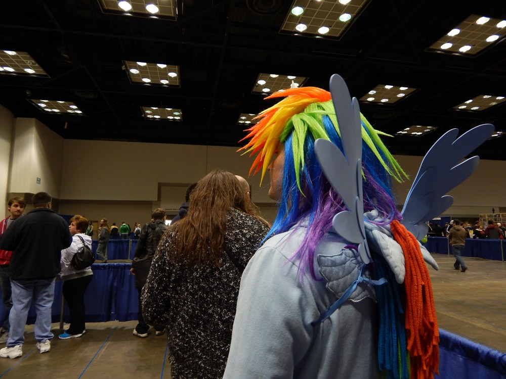 Rainbow Dash dislikes waiting in line...