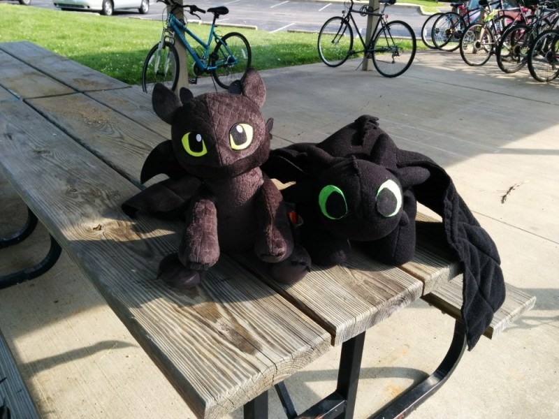 Here he is, with my handmade Toothless for scale.