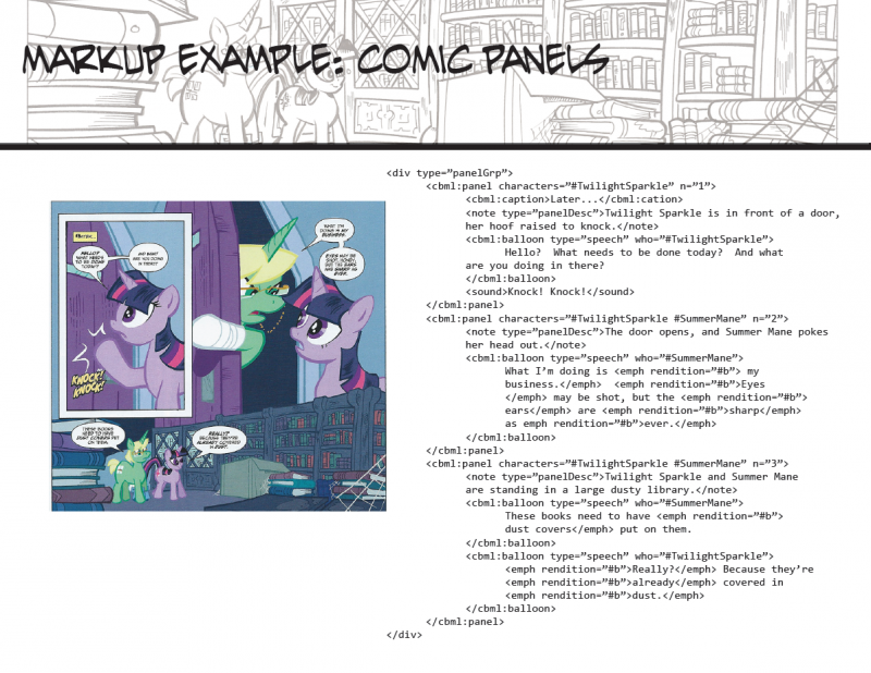 A snippet of a page from the Twilight Sparkle issue from the My Little Pony comic micro-series.  You can see a scan of the original inked page in the background of the header - I actually own that page!