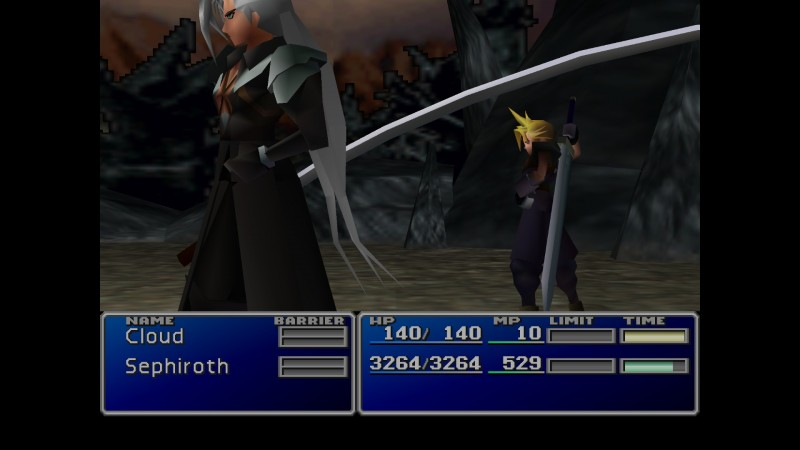 Awkward shot of everyone's favorite super-villain, Sephiroth!