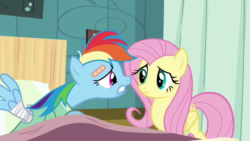 """You don't get it, Fluttershy, I have projects to finish!  Blankets to make!  Hats to craft!  I can't not crochet!"""