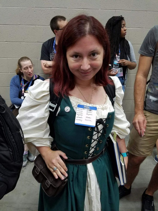 Me wearing my Denna costume at Gen Con 2017.
