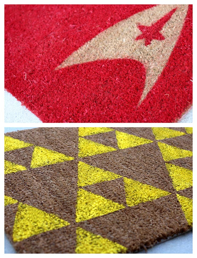 Other crafts the crafty nerd our nerd home has a lot of awesome diy projects on their site and this is another awesome project of theirs these geeky welcome mats look relatively solutioingenieria Gallery