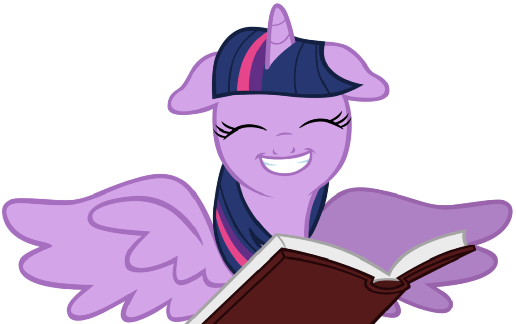 Twilight Sparkle with a book