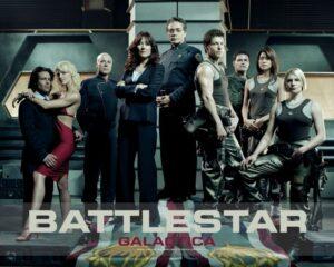 The main cast of Battlestar Galactica.