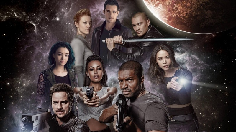 Image of the cast of the TV show Dark Matter.