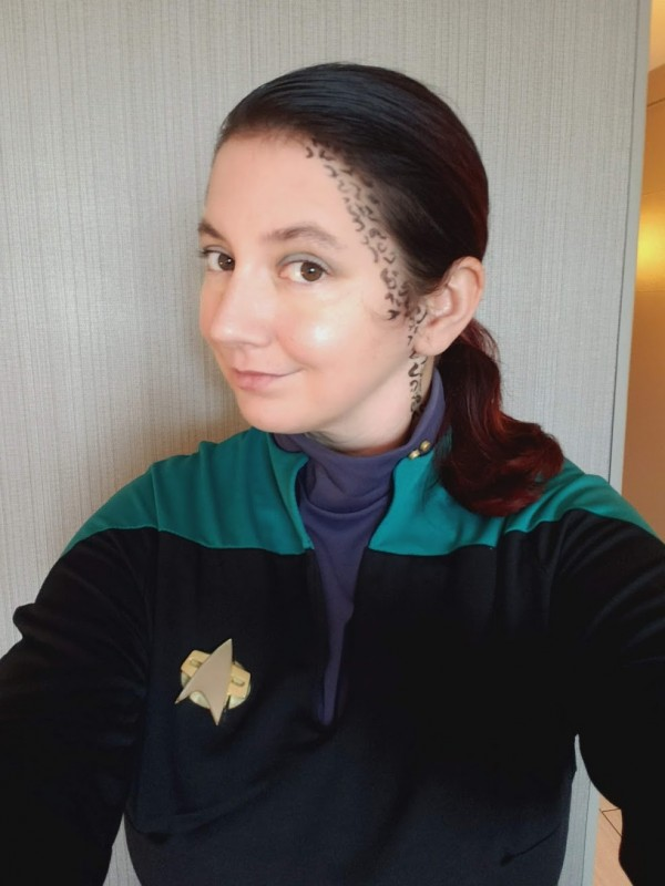 Me, dressed up as Jadzia Dax.