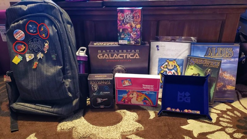 Photo of my Gen Con 2019 Haul.