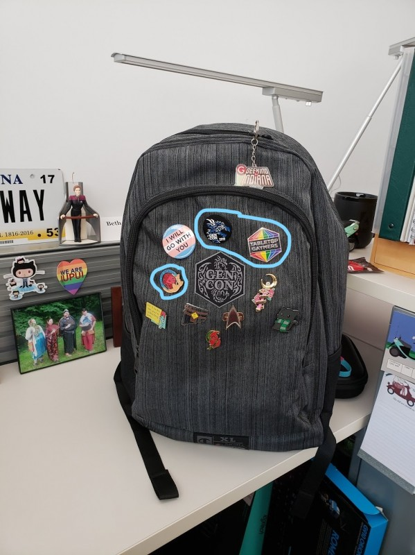 My Gen Con backpack.