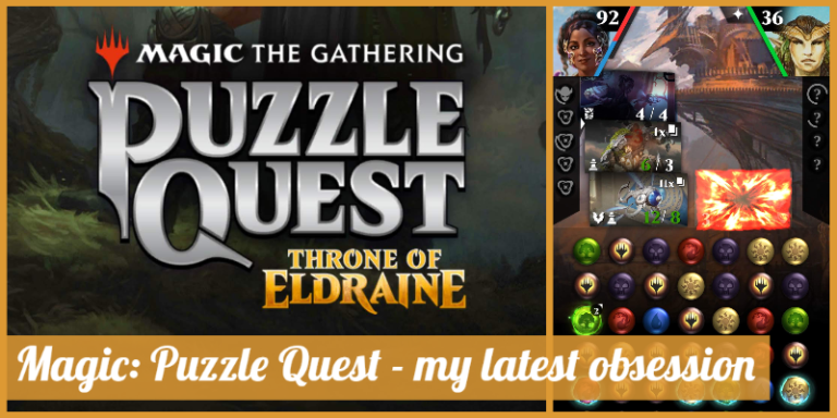 Screenshots from the game Magic: Puzzle Quest.